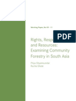 Community Forestry in South Asia