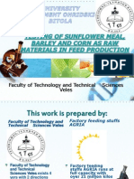 Testing of Sunflower Meal, Barley and Corn as Raw Materijal in Feed Production