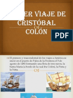 Primer viaje de Cristóbal Colón