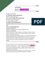 Pueblos indigenas-Informe Nacional de la República ArgentinaDesarrollo ComunitarioPrograma de ViviendaPariticipación en Consejo Indigena