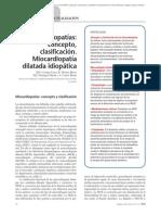 08.088 Miocardiopatías concepto, clasificación. Miocardiopatía dilatada idiopática