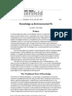 von Glaserfeld- Knowledge as Enviromental fit