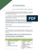 PROVINCIAS PETROLERAS