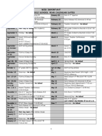 RCI Important Dates 2011-2012