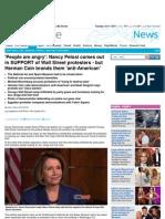Nancy Pelosi Supports the Wall Street Heathens