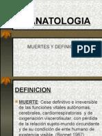 MUERTES Y DEFINICIONES TANATOLOGIA