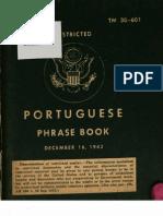 TM 30-601 Portuguese Phrase Book 1943