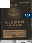 TM 30 606 German Phrase Book 1943 Color
