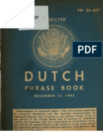 TM 30-607 Dutch Phrase Book 1943