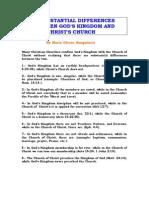 30 DIFERENCIAS SUSTANCIALES ENTRE EL REINO DE DIOS Y LA IGLESIA DE CRISTO (CORREGIDO)