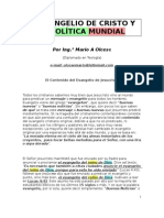 EL EVANGELIO DE CRISTO Y LA POLÍTICA MUNDIAL--- SEPA CÓMO SE RELACIONAN AMBOS