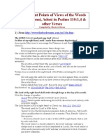23 DIFFERENT POINTS OF VIEW OF THE WORDS ADON, ADONI, AND ADONAI IN PSALMS 110:1 AND OTHER VERSES