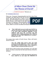 WHEN AND WHERE  CHRIST WILL SIT UPON DAVID'S THRONE---DISCOVER THE SIMPLE TRUTH