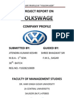 A Project Report on Volkswagen