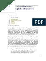THE FOUR MAJOR SCHOOLS OF THE ESCHATOLOGICAL INTERPRETATION