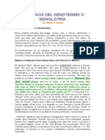 LA FALACIA DEL HENOTEÍSMO O MONOLATRÍA