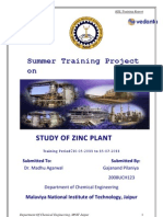Hindustan Zinc Limited Training Report