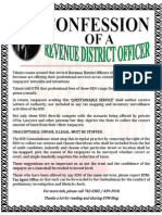 CONFESSION OF REVENUE DISTRICT OFFICER