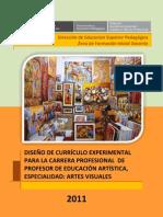 CURRÍCULO PARA LA CARRERA PROFESIONAL DE PROFESOR DE EDUCACIÓN ARTÍSTICA, ESPECIALIDAD