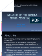 Evolution of the Windows Kernel Architecture