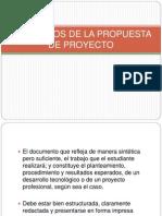Elementos de La Propuestas de Proyecto