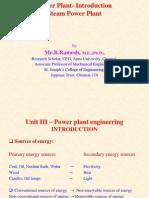 Intro & Steam Power Plant