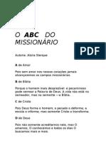 O  ABC   DO MISSIONÁRIO