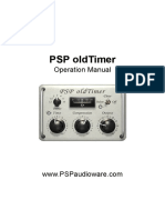 PSP OldTimer Operation Manual