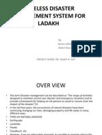 Wireless Disaster Management System for Ladakh