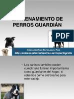 ENTRENAMIENTO DE PERROS GUARDIÁN