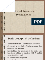 Criminal Procedure- Preliminaries 1