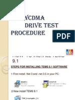 Wcdma Drive Test Procedure