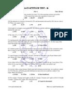 PDA CS Aptitude Test XVI
