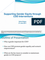 Supporting Gender Equity through CDD Interventions