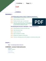 Cloning Database Training