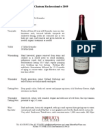 Rochecolombe CDR Red Fact Sheet