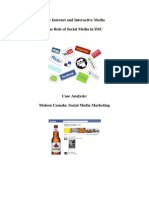 Case Study Molson -Social Media