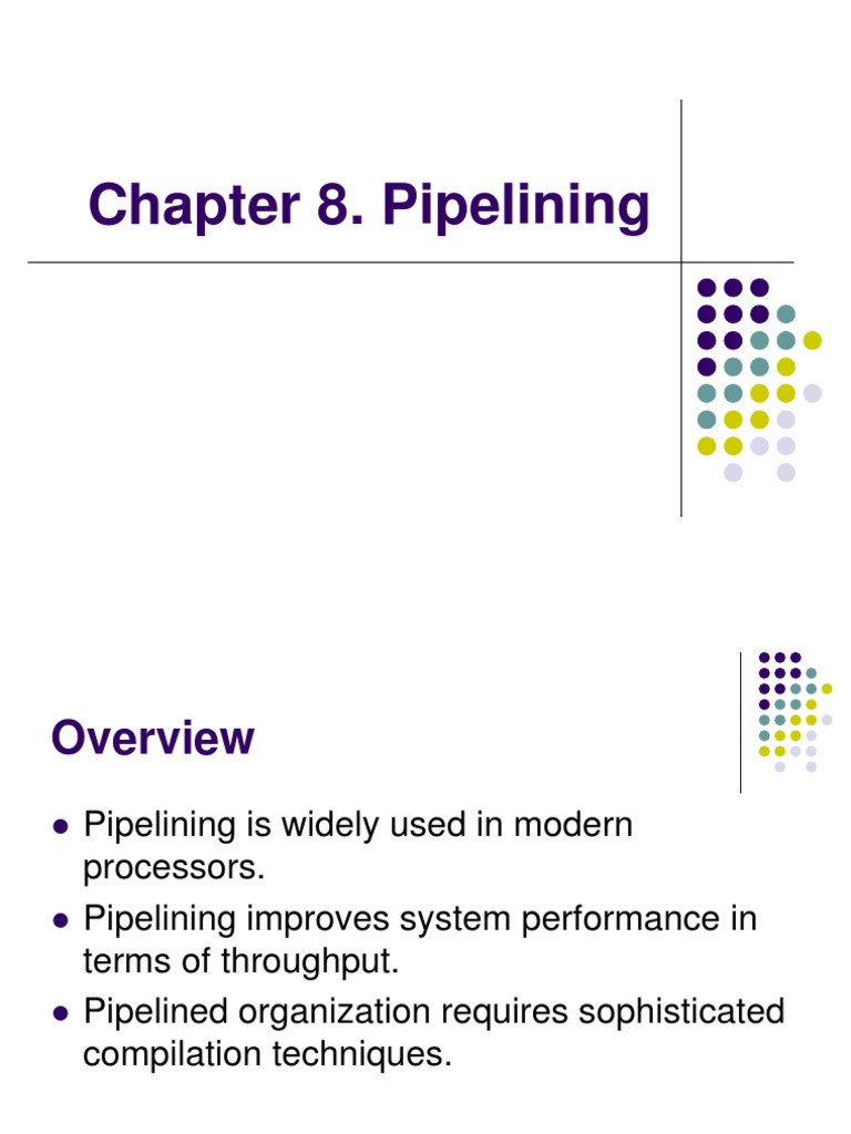Chapter6 Pipelining Instruction Set Central Processing Unit