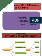 Assertiveness OB PPT