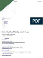 Mense biologiche, all'Italia il primato in Europa | Ecologiae