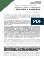 Hoja informativa Ley agilización procesal, 11-10-2011