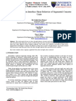 Effect of Steel Pins on Interface Shear Behavior of Segmental Concrete Units