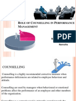 Role of Counselling in Performance Management
