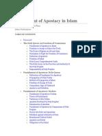 Punishment of Apostacy in Islam
