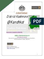 District Kashmore @Kandhkot Profile
