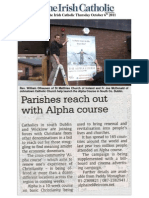 Alpha Campaign Article in Irish Catholic 6th Oct 11
