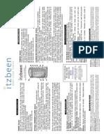 2007 ITZBEEN Instructions
