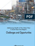WHO Urban Poor Health SEAR Challenges Opportunities B4755