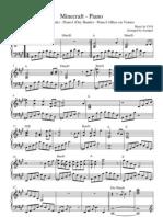 Minecraft Piano - Piano - Sheet Music