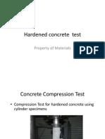 Concrete compression test